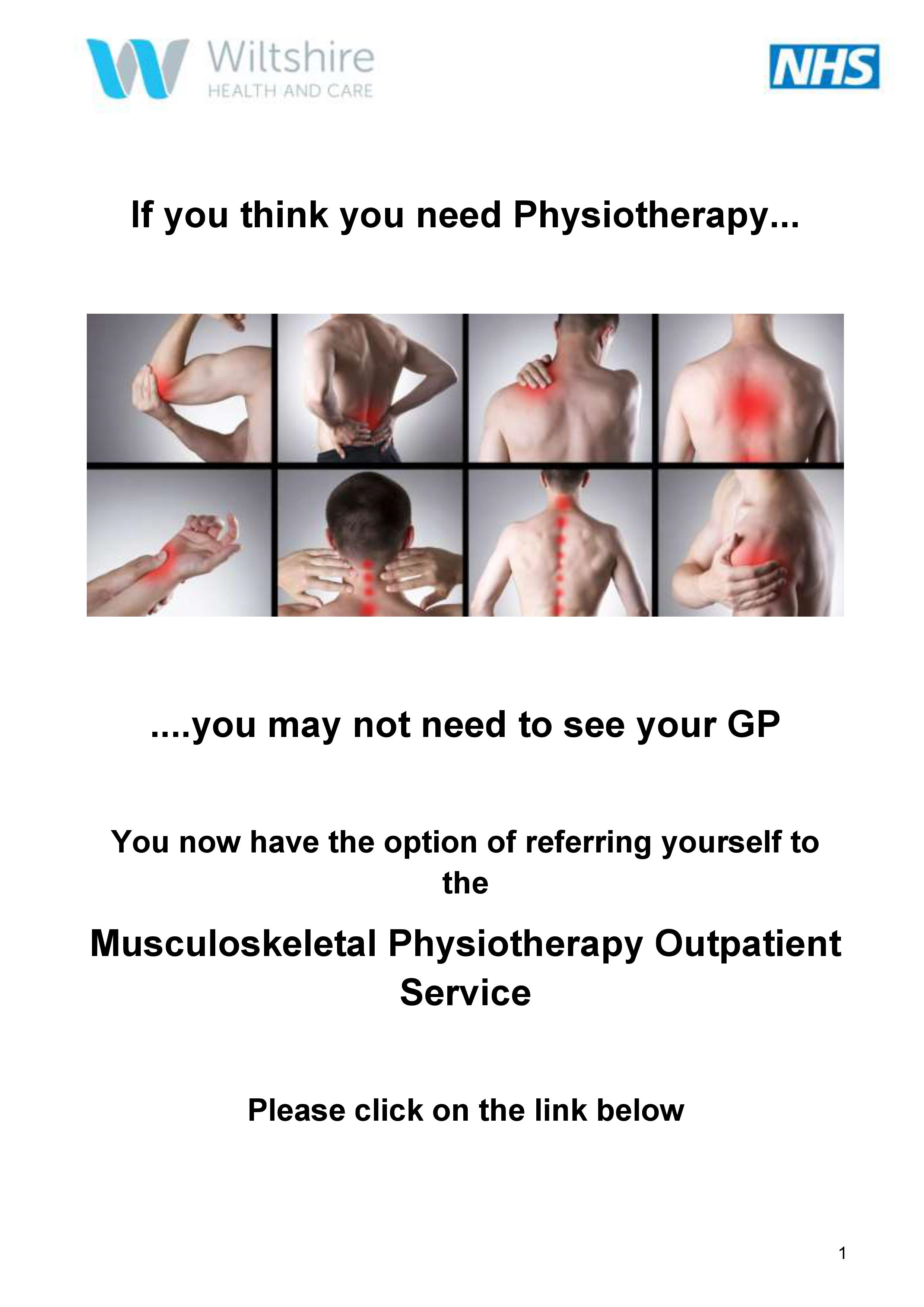 Physio self referral poster